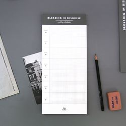 DESK WEEKLY SCHEDULER-SIDE (GRAY)