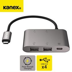 KANEX 맥북 노트북 C타입 케이블 4포트 USB 3.0 허브