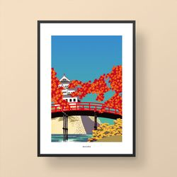 일본 인테리어 디자인 포스터 M 도쿄브릿지2 A3(중형)