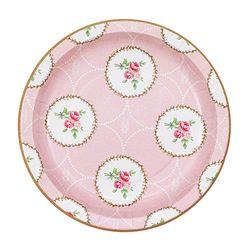 스윗 티타임 핑크 종이접시 S (10p)