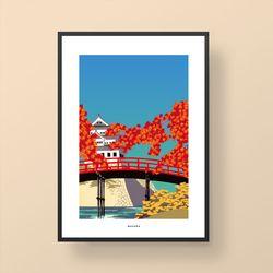 일본 인테리어 디자인 포스터 M 도쿄브릿지2 A2(대형)