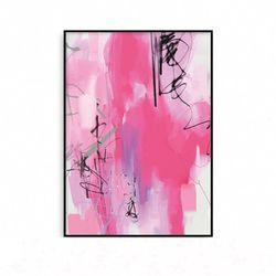 패브릭포스터 인테리어액자 추상화 핑크 [중형]