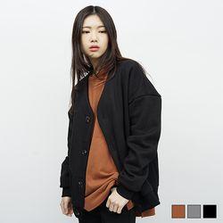 1010 베이직 기모 가디건 (3colors)