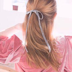 벨벳 리본 머리끈