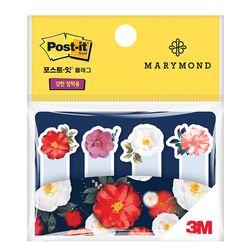 3M 포스트잇 마리몬드 동백 플래그 670-MA2