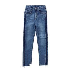 Side Blocking Slimfit Jeans(여성용)
