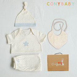 [무료배송/선물박스증정] [CONY]오가닉피터팬여름백일선물4종세트+선물박스