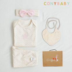 [무료배송/선물박스증정] [CONY]오가닉팅커벨여름백일선물4종세트+선물박스