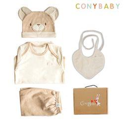 [무료배송/선물박스증정] [CONY]오가닉곰돌이백일선물4종세트(선물박스포함)