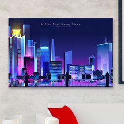iw669-잠들지않는도시의야경가로중형노프레임
