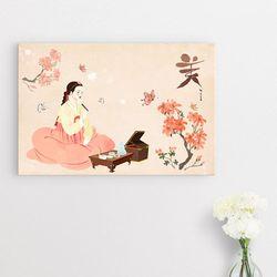 cu167-미인도꽃의여인중형노프레임