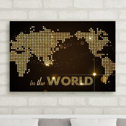 cw868-인더월드세계지도중형노프레임