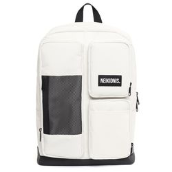 MESH SQUARE BACKPACK - IVORY