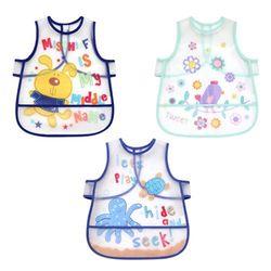아기를 위한 실용적인 방수 턱받이 3종(0-4세) 500042