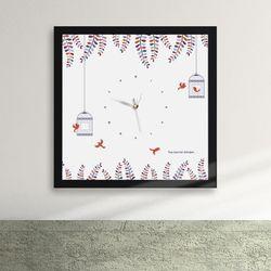 iy589-심플자연풍경액자벽시계