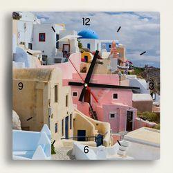 tb028- 컬러풀산토리니인테리어벽시계