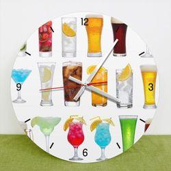 tb009-시원한한잔의술인테리어벽시계