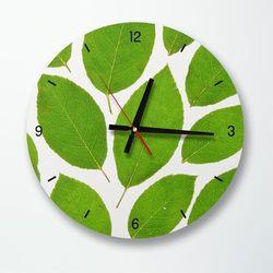 tb030-푸른나뭇잎들인테리어벽시계