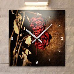 tb003-빈티지플라워아트(드라이로즈)인테리어벽시계