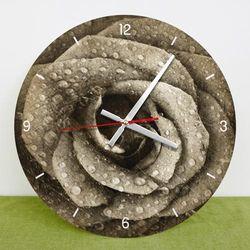 tb005-빈티지플라워아트(로즈)인테리어벽시계