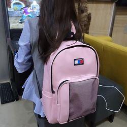 시그니처 클래식 USB 백팩 (pink)