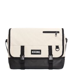 ICON MESSENGER BAG - LIGHT BEIGE