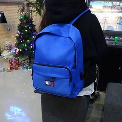 시그니처 베이직 USB 백팩 (blue)