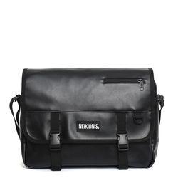 [레더] ICON MESSENGER BAG - LEATHER BLACK