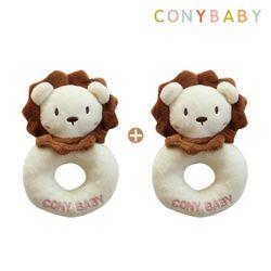 [무료배송] [CONY]사자딸랑이2종세트(신생아선물)