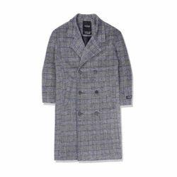 heavy wool overcoat휴 체크코트 남성코트 남자코트