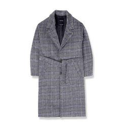 heavy wool single coatgb 체크코트 남성코트 코트