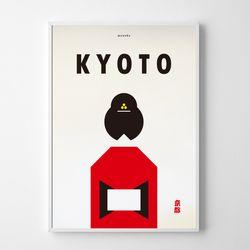 일본 인테리어 디자인 포스터 M 교토 A3(중형)