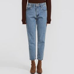 aron straight denim pants (s m)