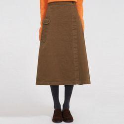 natural cotton long skirt