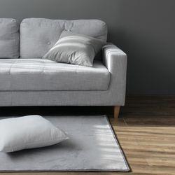 소프트 솔리드 그레이 러그 (100x150cm)