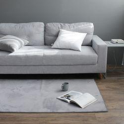 소프트 솔리드 그레이 러그 (150x200cm)