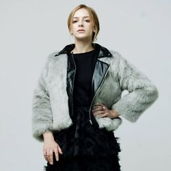 [MAYCATS]Eco Fur Leather Jacket
