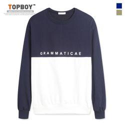[탑보이] 그라마티 오버핏 맨투맨 티셔츠 (NS482)