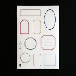 백상점 Label Sticker