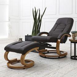 샤르망 회전 안락 의자 암체어 Dark Brown