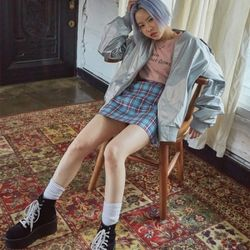 pastel check skirt (2 color)