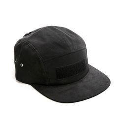 VELCRO CAMP CAP - BLACK
