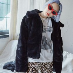 short fur jacket (2 color)