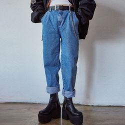 banding denim pants (2 color)