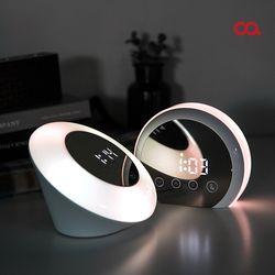 오아 무드미러클A 디지털 LED 탁상시계 거울 무드등