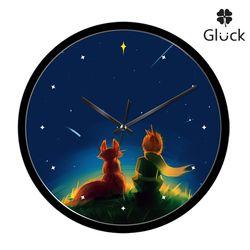 글륵 GL255B-PRI 어린왕자 저소음 인테리어 벽시계