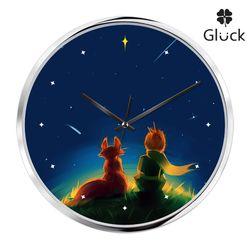 글륵 GL255S-PRI 어린왕자 저소음 인테리어 벽시계