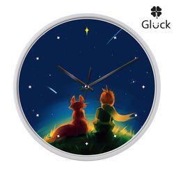 글륵 GL255W-PRI 어린왕자 저소음 인테리어 벽시계