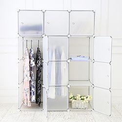 DIY 옷걸이 12D 수납장 투명