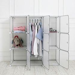 DIY 옷걸이 수납장 中 투명
